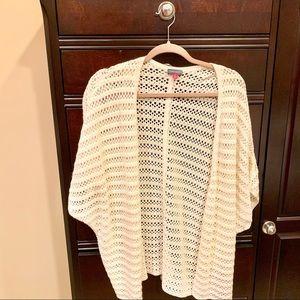 Vince Camuto Plus Crochet Cardigan